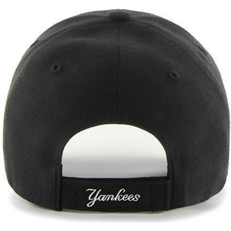 fbff2dae8747c 47 Brand Curved Brim Youth New York Yankees MLB MVP Black Cap  Shop ...