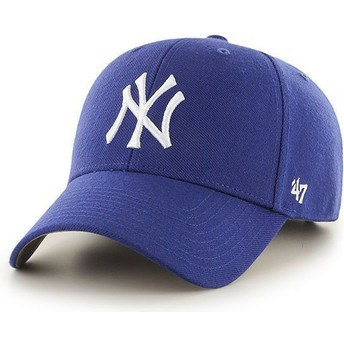 47 Brand Curved Brim Youth New York Yankees MLB MVP Blue Cap