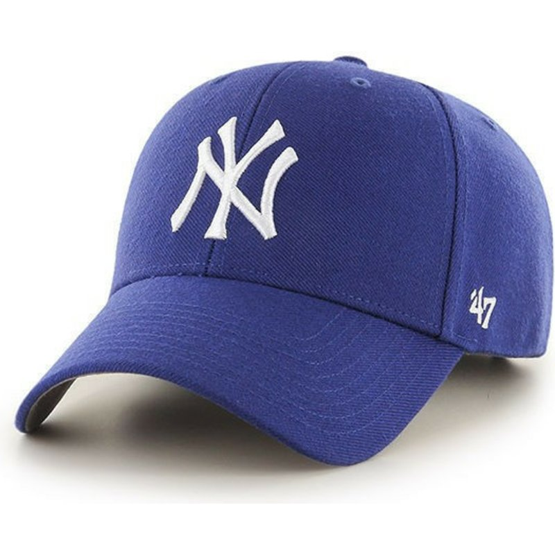 1af920ae8bc 47 Brand Curved Brim Youth New York Yankees MLB MVP Blue Cap  Shop ...