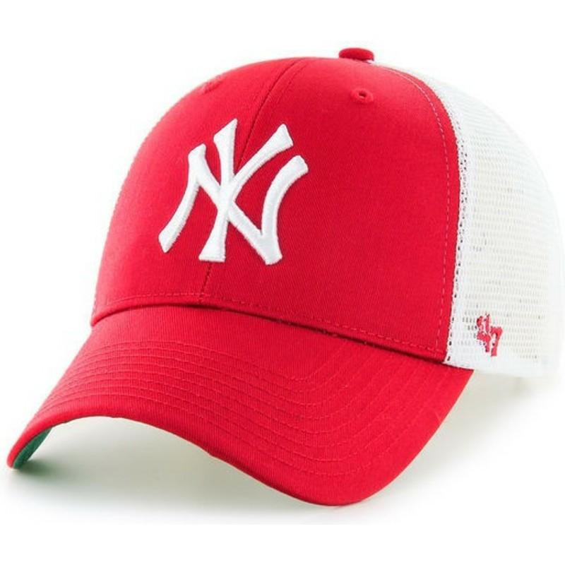 91c566dca3ad 47 Brand New York Yankees MLB MVP Red Trucker Hat  Shop Online at ...