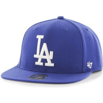47 Brand Flat Brim Los Angeles Dodgers MLB Captain Blue Snapback Cap