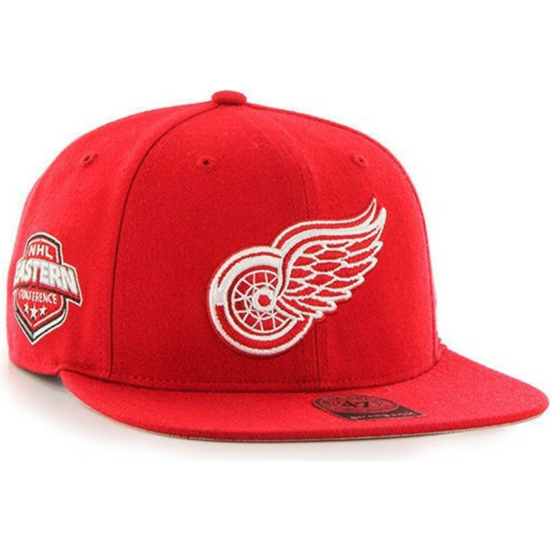 47-brand-flat-brim-detroit-red-wings-nhl-captain-red-snapback-cap