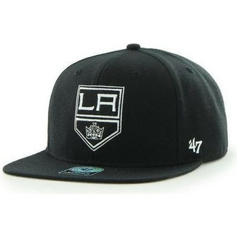 47 Brand Flat Brim Los Angeles Kings NHL Captain Black Snapback Cap