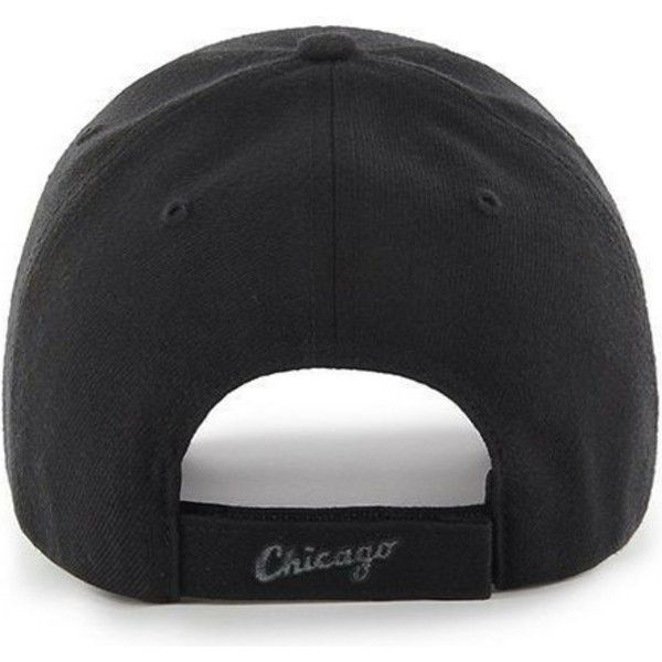 47-brand-curved-brim-silver-logo-chicago-white-sox-mlb-mvp-black-cap