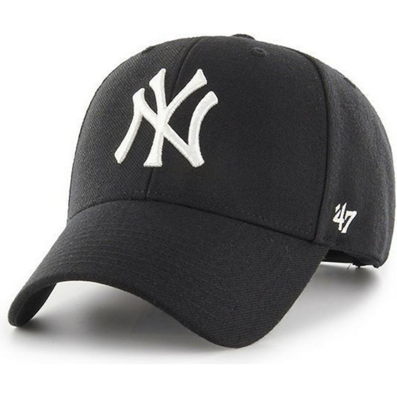 1149a09cfb2 47 Brand Curved Brim New York Yankees MLB MVP Black Snapback Cap ...