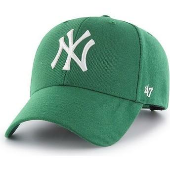 47 Brand Curved Brim New York Yankees MLB MVP Green Snapback Cap