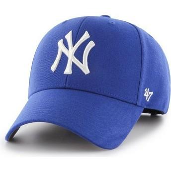 47 Brand Curved Brim New York Yankees MLB MVP Blue Snapback Cap