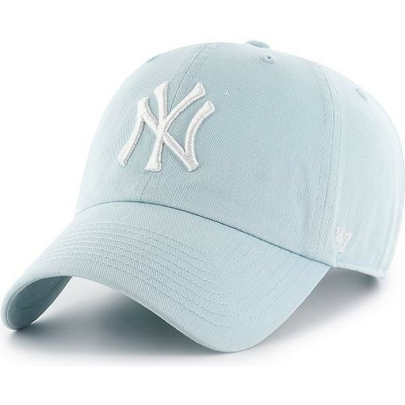 47-brand-curved-brim-new-york-yankees-mlb-clean-up-light-blue-cap