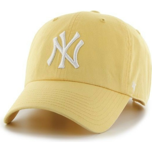 47-brand-curved-brim-new-york-yankees-mlb-clean-up-yellow-cap