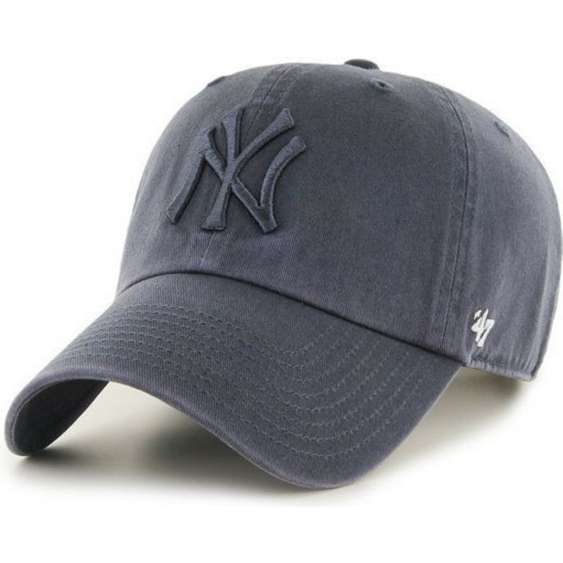 c40efb4e7bc1d 47 Brand Curved Brim Grey Logo New York Yankees MLB Clean Up Grey ...