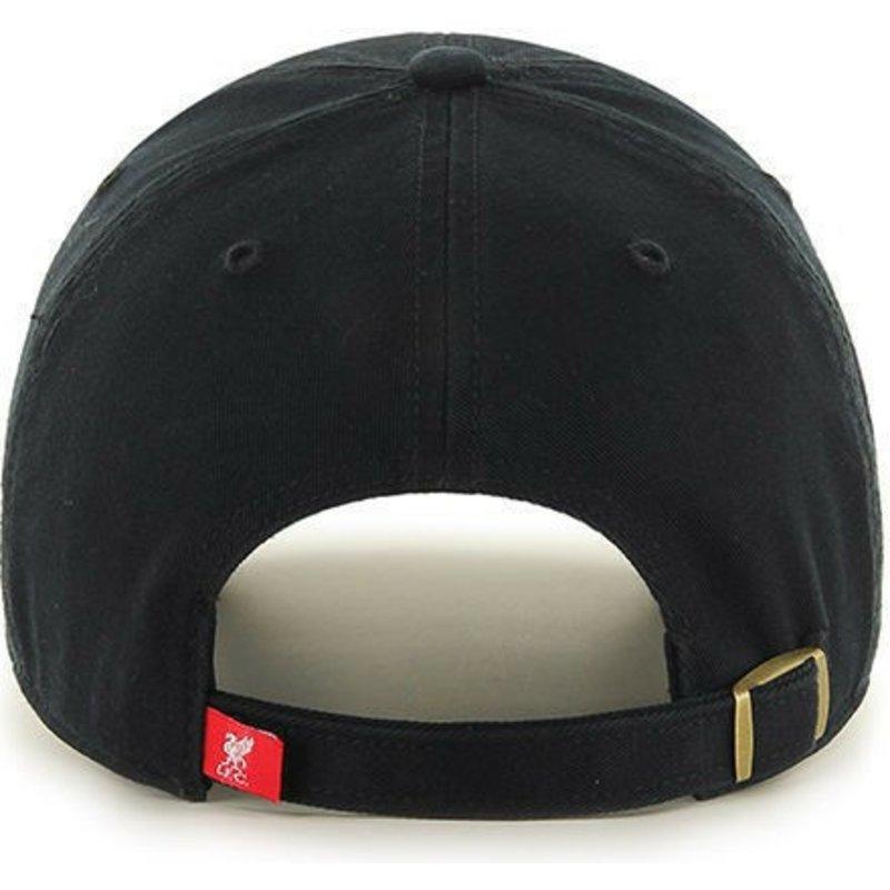 fe04ceb658d 47 Brand Curved Brim Liverpool Football Club Clean Up Black Cap ...