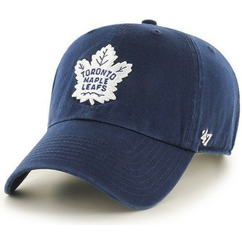47 Brand Curved Brim Toronto Maple Leafs NHL Clean Up Navy Blue Cap