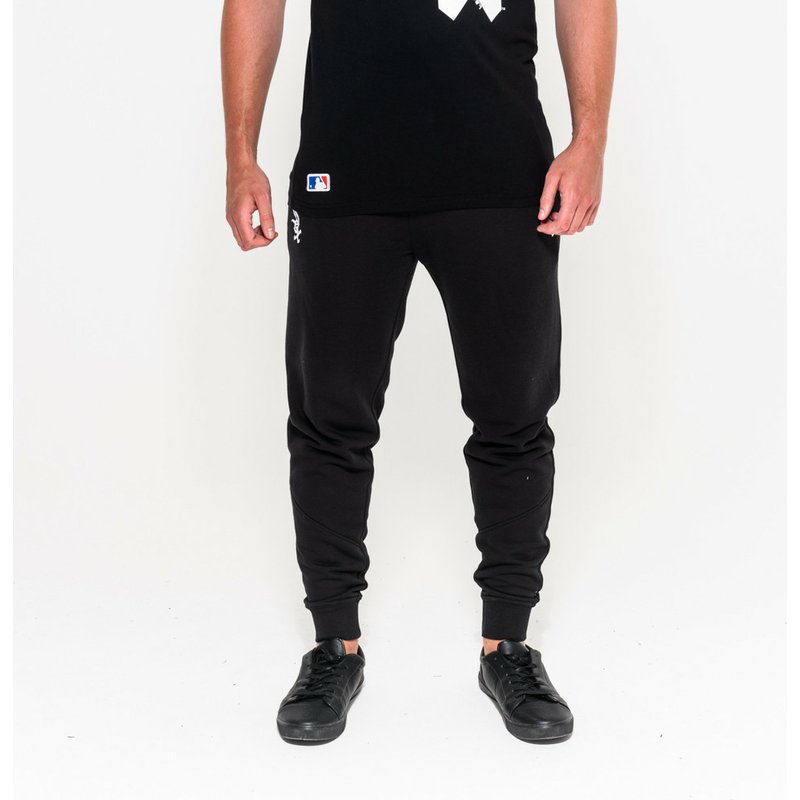 New Era Chicago White Sox MLB Black Long Track Pant  Shop Online at ... 8e35fca533a