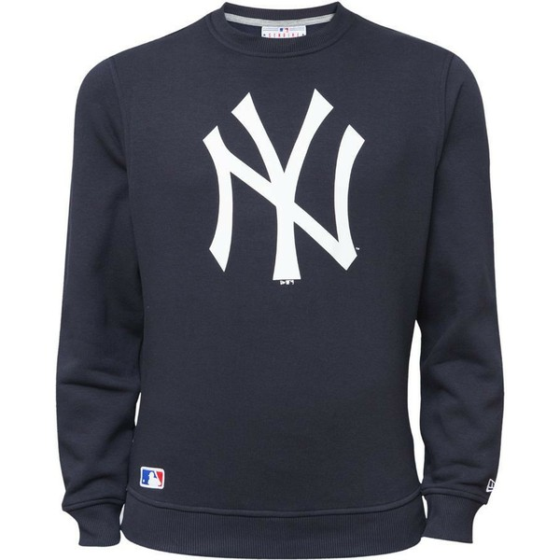 hot sale online 6cb19 d0b5c New Era New York Yankees MLB Blue Crew Neck Sweatshirt