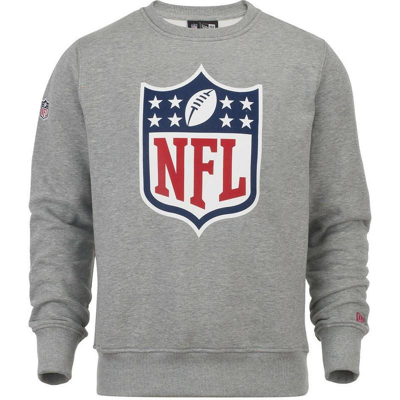 big sale d322f 3b544 New Era NFL Grey Crew Neck Sweatshirt
