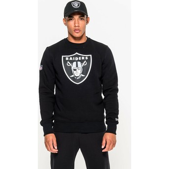New Era Oakland Raiders NFL Black Crew Neck Sweatshirt