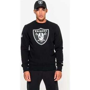 Sudadera negra Crew Neck de Las Vegas Raiders NFL de New Era