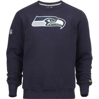Sudadera azul Crew Neck de Seattle Seahawks NFL de New Era