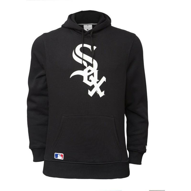 huge discount c4eb9 12aac New Era Chicago White Sox MLB Black Pullover Hoodie Sweatshirt