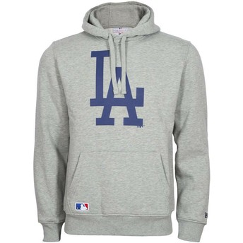 New Era Los Angeles Dodgers MLB Grey Pullover Hoodie Sweatshirt