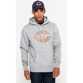 Sudadera con capucha gris Pullover Hoodie de Chicago Bears NFL de New Era