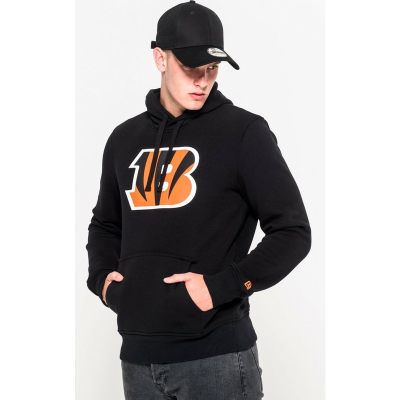Top New Era Cincinnati Bengals NFL Black Pullover Hoodie Sweatshirt  for cheap