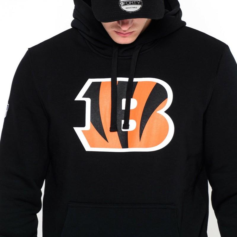 sale retailer b836d 28340 New Era Cincinnati Bengals NFL Black Pullover Hoodie Sweatshirt