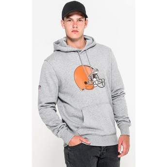 New Era Cleveland Browns NFL Grey Pullover Hoodie Sweatshirt