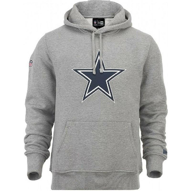meet f047a 49b2f New Era Dallas Cowboys NFL Grey Pullover Hoodie Sweatshirt