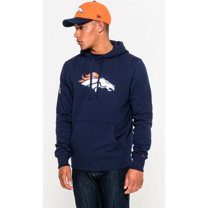 New Era Denver Broncos NFL Blue Pullover Hoodie Sweatshirt  Shop ... 17e4de8444a