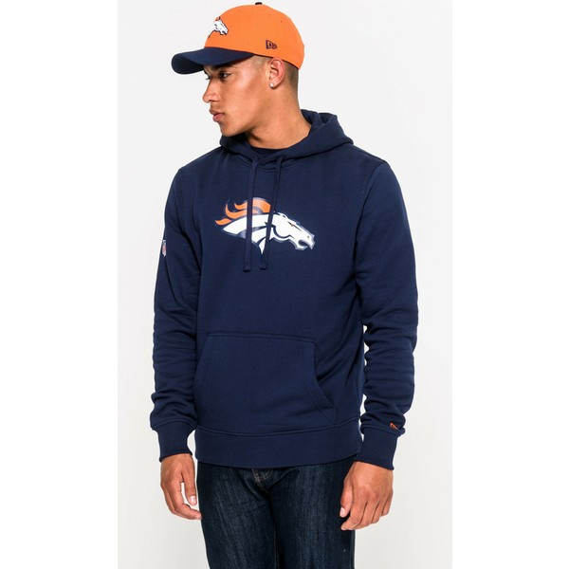 huge selection of 85426 335d2 New Era Denver Broncos NFL Blue Pullover Hoodie Sweatshirt