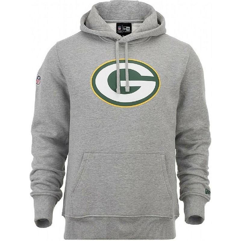 New Era Green Bay Packers NFL Grey Pullover Hoodie Sweatshirt  Shop ... 08e6fa768