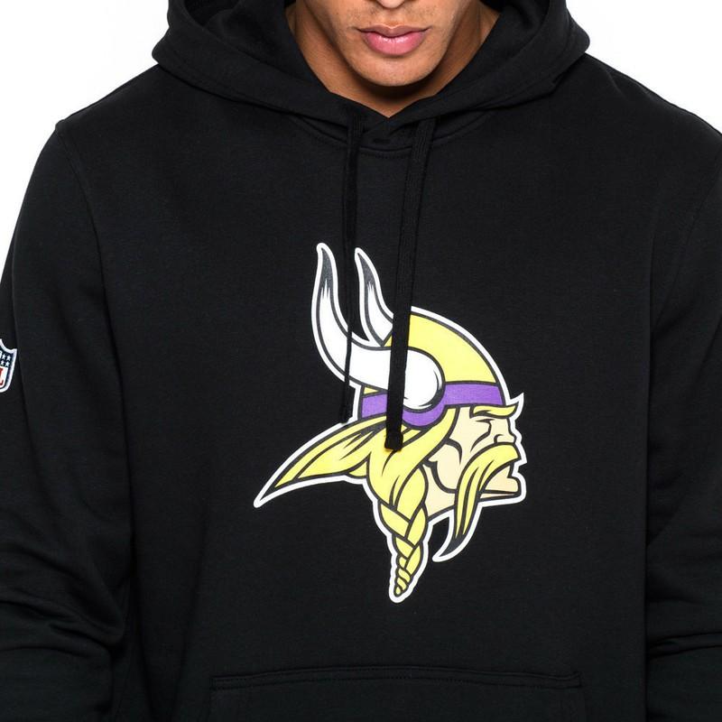 detailed look 91938 7805d New Era Minnesota Vikings NFL Black Pullover Hoodie Sweatshirt