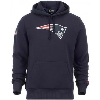 Sudadera con capucha azul Pullover Hoodie de New England Patriots NFL de New Era