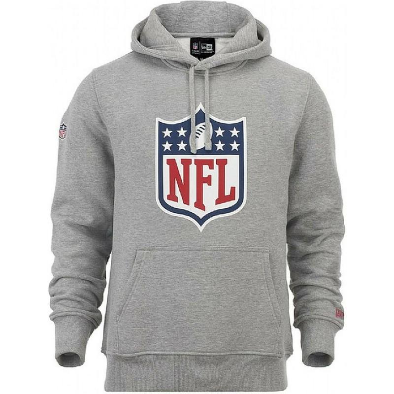 new concept 60536 79f7e New Era NFL Grey Pullover Hoodie Sweatshirt
