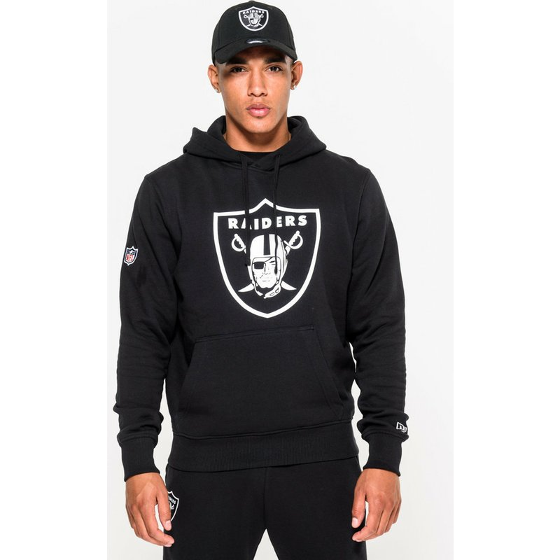 pick up f2c00 e8e5b New Era Oakland Raiders NFL Black Pullover Hoodie Sweatshirt