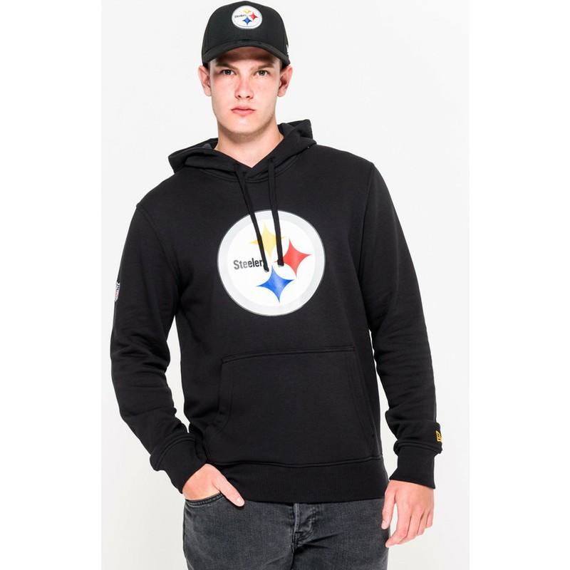 outlet store d6f44 93625 New Era Pittsburgh Steelers NFL Black Pullover Hoodie Sweatshirt