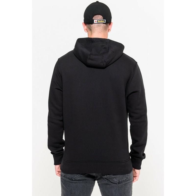 outlet store ab0c8 0227b New Era Pittsburgh Steelers NFL Black Pullover Hoodie Sweatshirt
