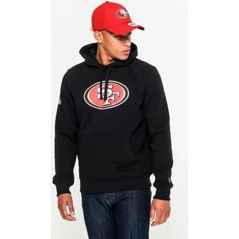 Sudadera con capucha negra Pullover Hoodie de San Francisco 49ers NFL de New Era