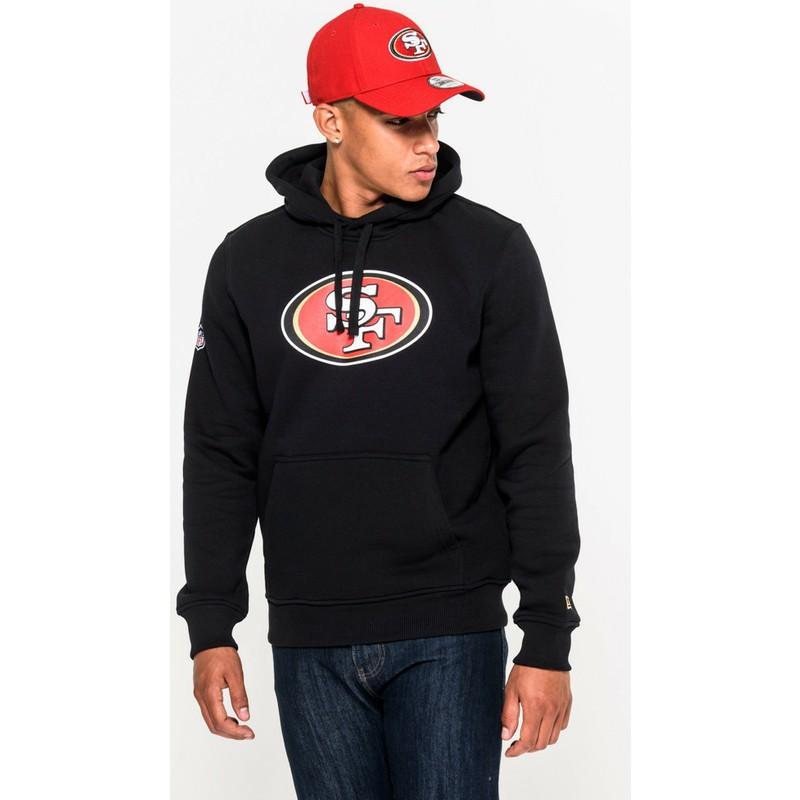 Discount New Era San Francisco 49ers NFL Black Pullover Hoodie Sweatshirt  for sale