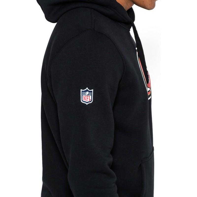 sports shoes d7bc7 2870b New Era San Francisco 49ers NFL Black Pullover Hoodie Sweatshirt