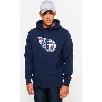 Sudadera con capucha azul Pullover Hoodie de Tennessee Titans NFL de New Era