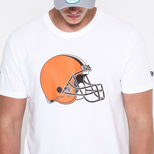 outlet store 40e3c a4172 New Era Cleveland Browns NFL White T-Shirt
