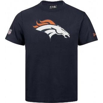 Camiseta de manga corta azul de Denver Broncos NFL de New Era