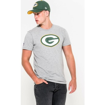 Camiseta de manga corta gris de Green Bay Packers NFL de New Era