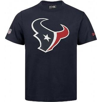 Camiseta de manga corta azul de Houston Texans NFL de New Era
