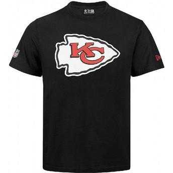 Camiseta de manga corta negra de Kansas City Chiefs NFL de New Era
