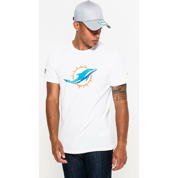save off 0ab32 86d22 New Era Miami Dolphins NFL White T-Shirt