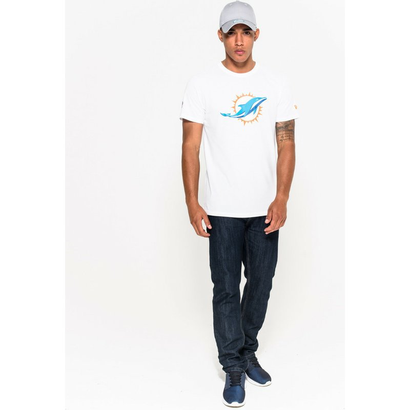 44c5c6338 New Era Miami Dolphins NFL White T-Shirt  Shop Online at Caphunters