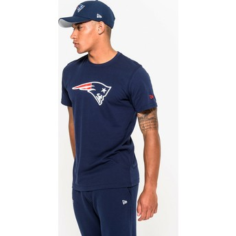 Camiseta de manga corta azul de New England Patriots NFL de New Era